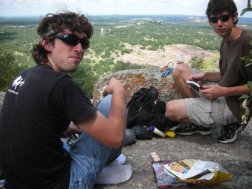Lunch atop the backside of Enchanted Rock, this place is good mojo!