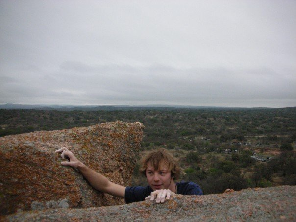 My first climbing trip outdoors. not sure who took this photo...