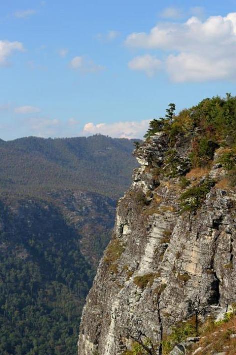 The walls of shortoff mountain