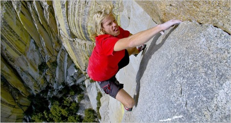 "Michael Reardon's solos ""Romantic Warrior"" (5.12b)"