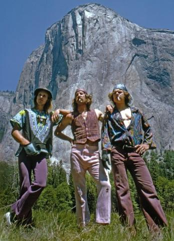 Westbay, Briwell and Long after the first one-day ascent of the Nose, El Cap, Yosemite, CA