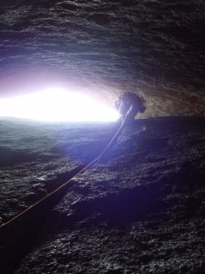 Leading Cave crack several months later after purchasing a dirtbag rack of gear