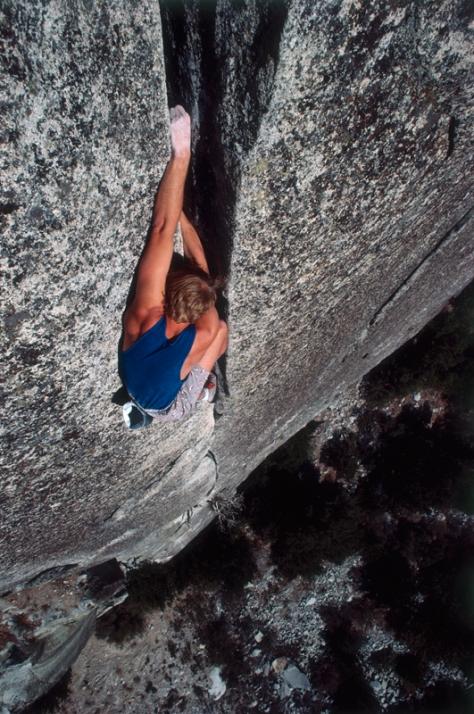 John Bachar soloing in Yosemite