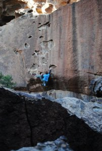 Highballing at the Hueco Tanks