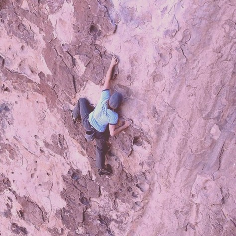 Still less scary than bouldering on busted ankles!