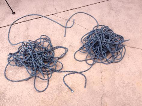 Now our rope resembled a falling spaghetti monster